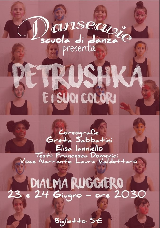 """Danseavie al Dialma Ruggiero con il suo """"Petrushka e i suoi colori"""""""